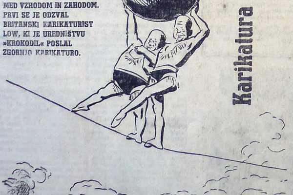 Karikatura / Caricature (Vir / Source:  Delo, 6. 9. 1959)